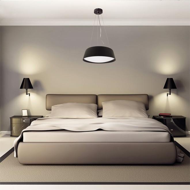 Варианты освещения натяжного потолка в спальне