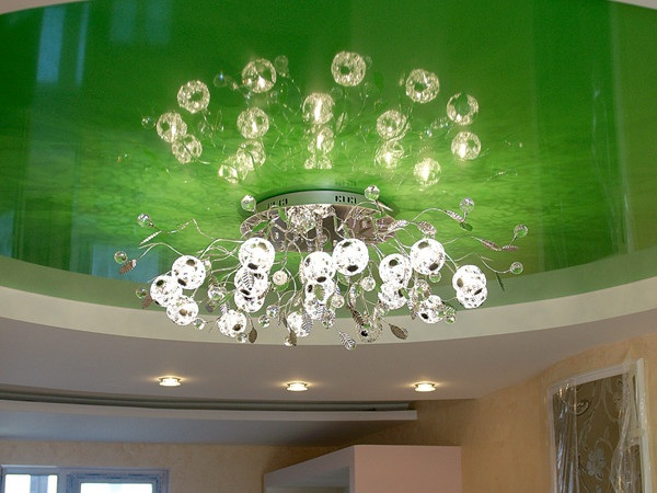 Какие светильники выбрать для натяжных потолков