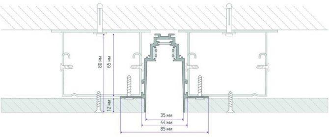 Устройство и монтаж магнитной трековой системы освещения